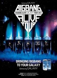 "Big Bang colabora con Samsung Electronics para ""BIGBANG ALIVE GALAXY TOUR2012″"