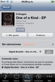 ONE OF A KIND disponible en iTunes