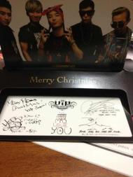[FOTO] Tarjeta de navidad firmada para el fanclub deJapón